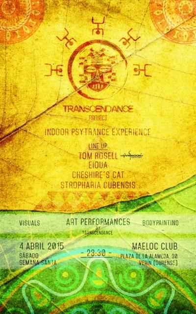 Party Flyer TRANSCENDANCE PROJECT PSYTRANCE EXPERIENCE (free party!!!!) 4 Apr '15, 23:00