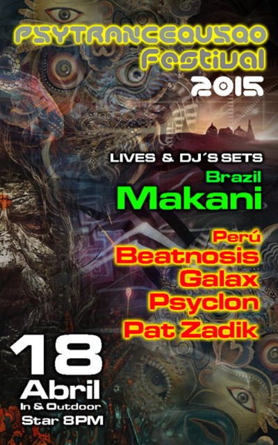 Party Flyer psytrancequsqo festival 2015 ( lima-party ) 18 Apr '15, 20:00