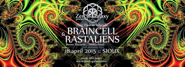 Party Flyer Zen.IT Galaxy Party with BRAINCELL & RASTALIENS 18 Apr '15, 23:00