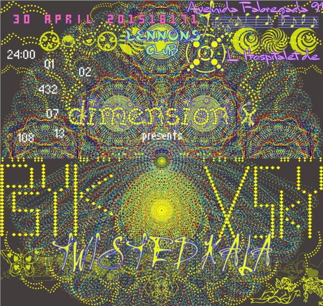 Party Flyer DIMENSION X PRESENTS : PSYKOVSKY - 5 Hours LIVE !!! 30 Apr '15, 23:30
