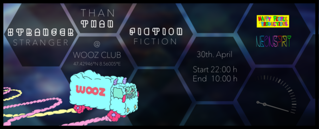 Party Flyer Stranger Than Fiction | VAISHIYAS, SUSPECT ONE, KAYLEE a.m.m. 30 Apr '15, 22:00