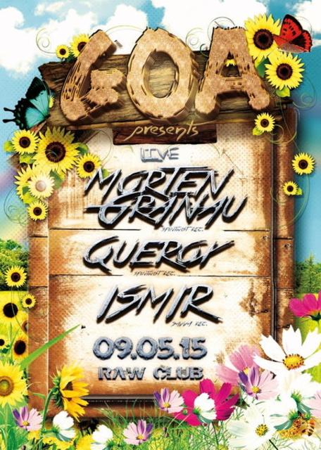 Party Flyer Goa pres. Morten Granau 9 May '15, 23:00