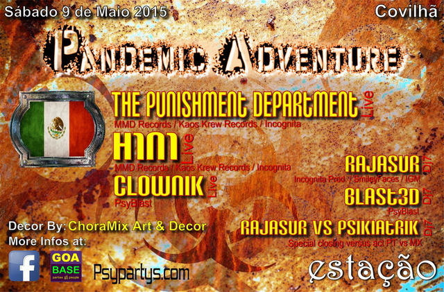 Party Flyer PANDEMIC ADVENTURE 9 May '15, 23:30