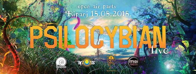 Party Flyer PSILOCYBIAN live! 15 May '15, 20:00