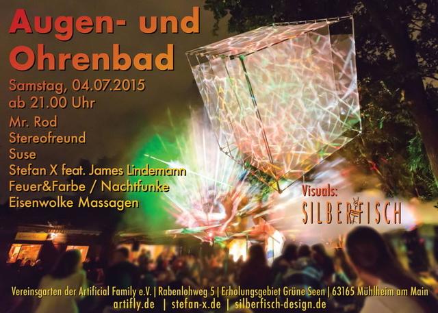 Party Flyer Augen- & Ohrenbad 4 Jul '15, 21:00