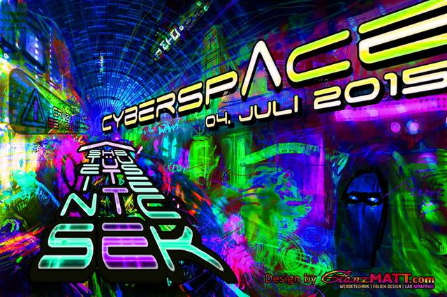 Party Flyer CYBERSPACE 4 Jul '15, 22:00