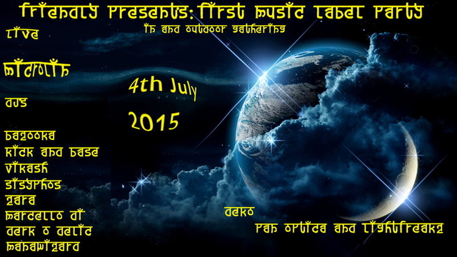 Party Flyer ★ ★ ★ ૐૐૐ Friendly Present's: Friendly Music Label Release Party ૐૐૐ ★ ★ ★ 4 Jul '15, 16:00