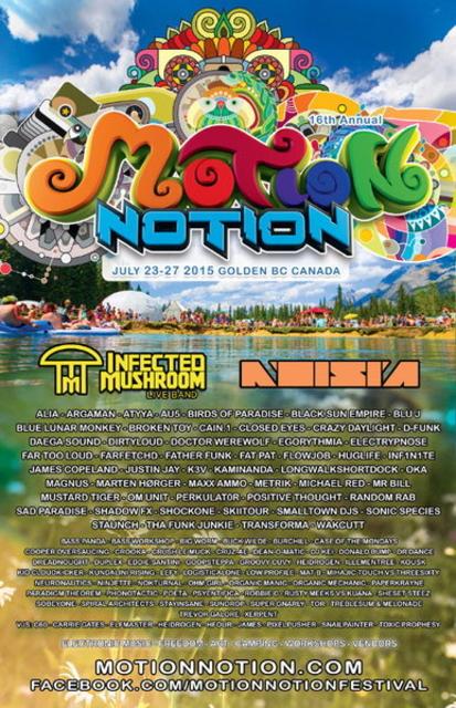 Party Flyer MOTION NOTION FESTIVAL 23 Jul '15, 12:00