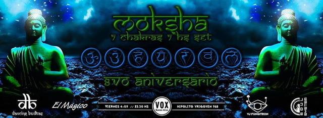 Party Flyer Dancing Budhas features Dj Moksha 7 Chakras 7hs Set 4 Sep '15, 23:30