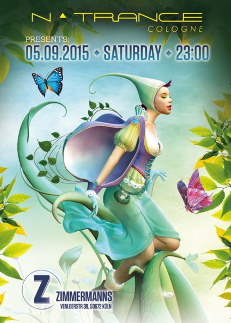 Party Flyer NTrance Cologne @ Zimmermanns 5 Sep '15, 23:00