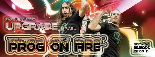 Party Flyer -Ƹ̵̡Ӝ̵̨̄Ʒ-PROG ON FIRE -Ƹ̵̡Ӝ̵̨̄Ʒ- // UPGRADE / ISRAEL LIVE 12 Sep '15, 22:00