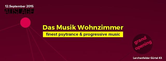 "Party Flyer TALIESIN & FUNKY DRAGON im "" Musik Wohnzimmer "" 12 Sep '15, 22:00"