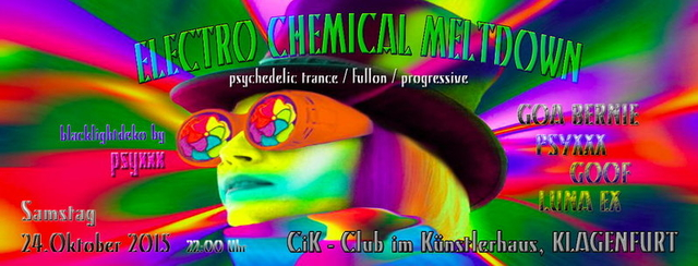 Party Flyer ELECTRO CHEMICAL MELTDOWN 24 Oct '15, 22:00
