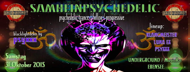 Party Flyer SAMHEINPSYCHEDELIC 31 Oct '15, 21:00