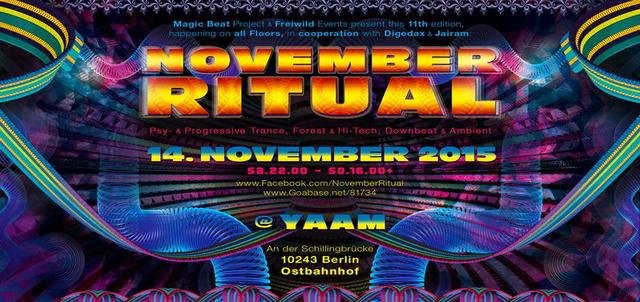 Party Flyer ****NOVEMBER RITUAL**** 2015 ¸.•*¨`*•.♫❤ 14 Nov '15, 22:00