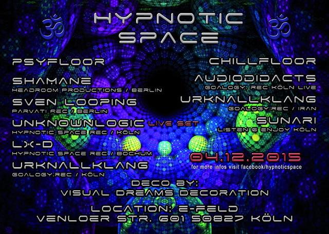 HYPNOTIC SPACE rec. MEETS BEEFY´S BIRTHDAY BASH ! 4 Dec '15, 22:00