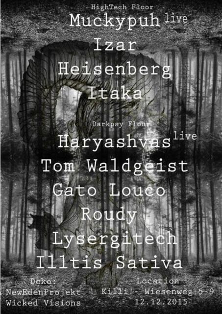 Party Flyer Belenus Psycadelic 12 Dec '15, 23:00