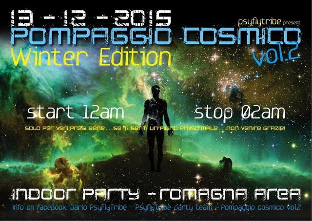 Party Flyer Pompaggio cosmico vol 2 winter edition 13 Dec '15, 12:00