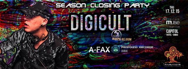 RAVELATIONS Season Closing Party feat DIGICULT (Dacru Records, Belgium) & A-Fax 17 Dec '15, 22:00