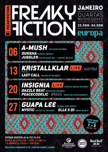 Party Flyer FREAKY FICTION 6 Jan '16, 23:00
