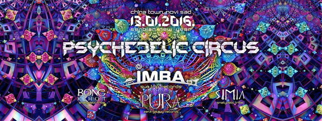Party Flyer Psychedelic CIRCUS / Serbian New Year / Tribal gathering 13 Jan '16, 22:00