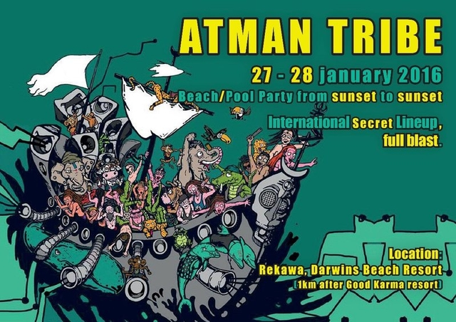 Party Flyer ATMAN TRIBE 27 Jan '16, 17:00