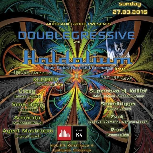 Party Flyer DOUBLEGRESSIVE with HALDOLIUM 27 Mar '16, 22:00