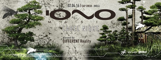 Party Flyer IONO MUSIC Label Night - ITALY - 3 stage 2 Apr '16, 23:00