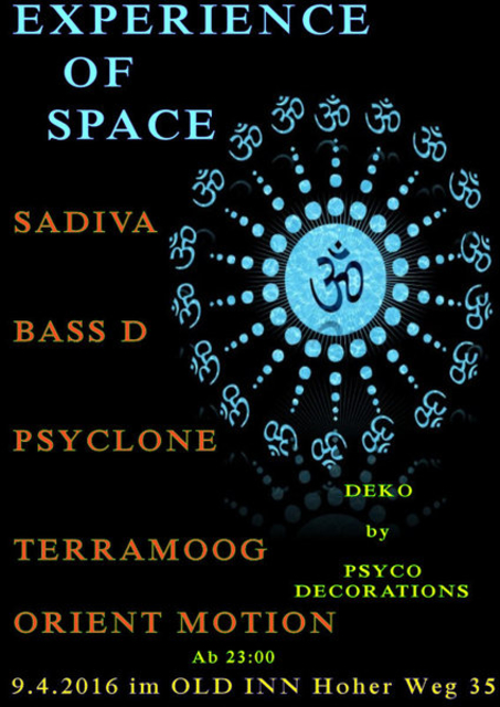 Party Flyer Experience of Space 9 Apr '16, 23:00