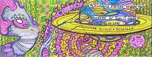 Party Flyer Zenit Galaxy with Encephalopaticys (Parvati) LIVE 16 Apr '16, 22:00