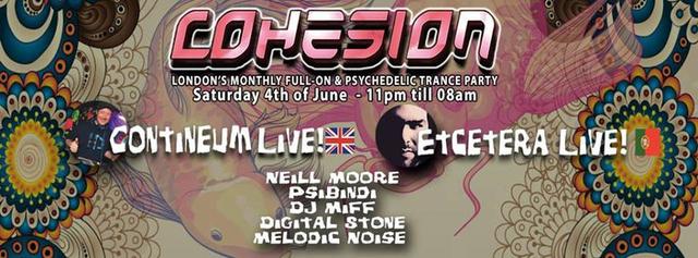 Party Flyer Cohesion Psytrance Party 4 Jun '16, 23:00