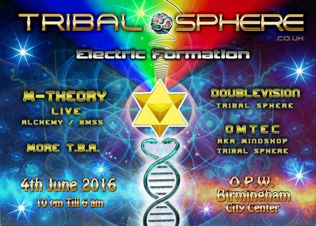 Party Flyer Tribal Sphere - Electric Formation 4 Jun '16, 22:00