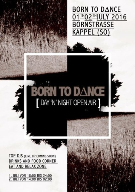 Party Flyer Born to Dance 1 Jul '16, 18:00