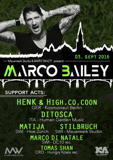 Party Flyer BÄRN TANZT! presents: Marco Bailey 3 Sep '16, 22:00