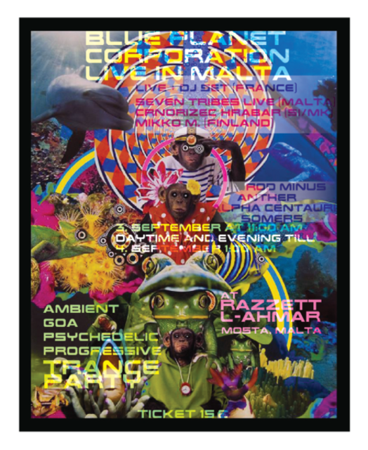 Party Flyer Blue Planet Corporation Live in Malta 3 Sep '16, 11:00