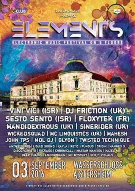Party Flyer Elements Festival 3 Sep '16, 21:00