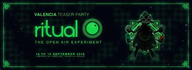 Party Flyer Ritual ( The Open air experiment ) TEASER PARTY VALENCIA 3 Sep '16, 22:00