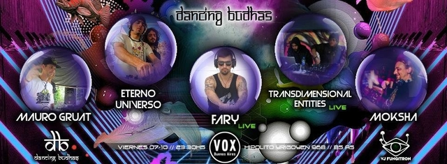 Party Flyer Dancing Budhas 7 Oct '16, 23:30