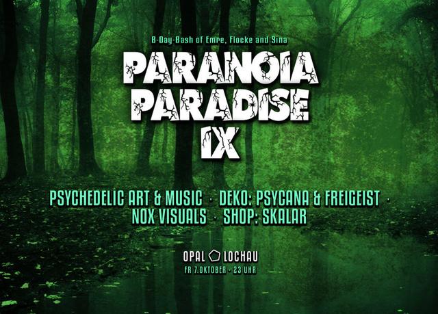 Party Flyer Paranoia Paradise IX 7 Oct '16, 22:30