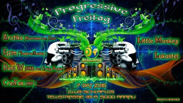 Party Flyer Progressive Freitag W Arctika 7 Oct '16, 23:00