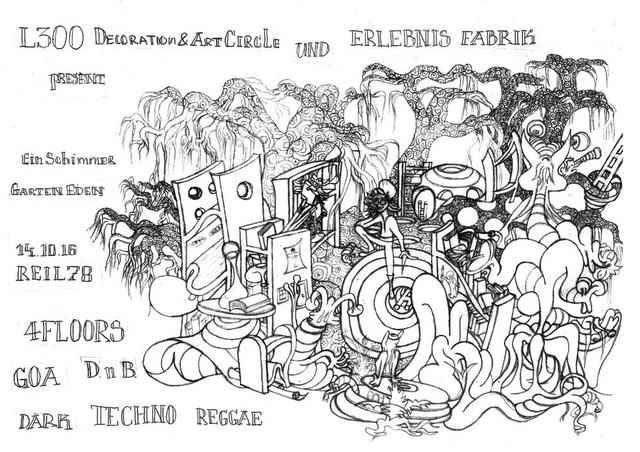 Party Flyer Ein Schimmer Garten Eden 14 Oct '16, 22:00