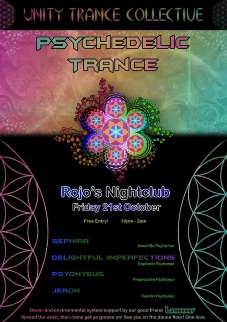 Party Flyer Unity Trance Collective - Psychedelic Trance Gathering 21 Oct '16, 22:00