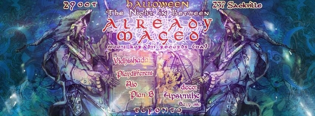 Party Flyer The Night In Between 29 Oct '16, 22:00
