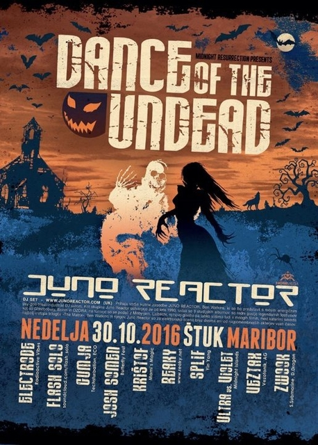 Party Flyer Dance Of The Undead 2016 with Juno Reactor 30 Oct '16, 22:00