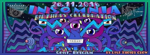 Party Flyer 15Y Insomnia Rec. / 20Y Texas Faggott anniversary by Lost Theory 26 Nov '16, 22:00