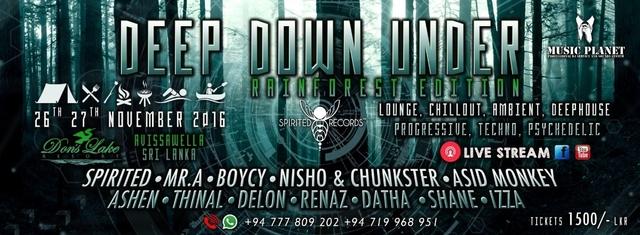 Party Flyer ★♛✌ ★ Deep•Down•Under ★♛✌ ★ ♫ Rainforest Edition ♫ 26 Nov '16, 12:00