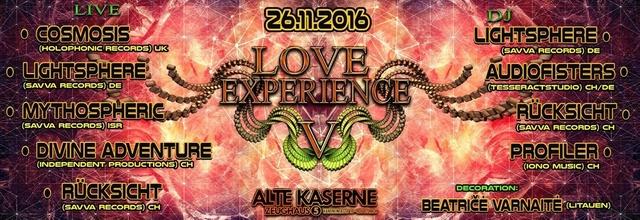 Party Flyer **LOVE EXPERIENCE V** 26 Nov '16, 23:00