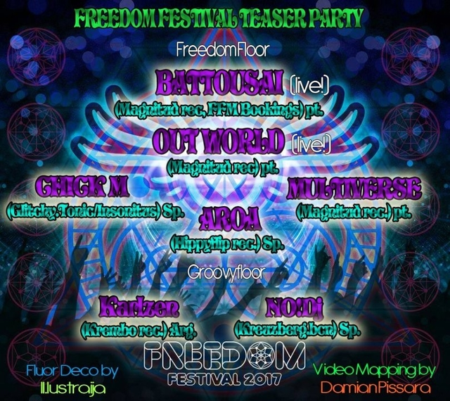 FREEDOM FESTIVAL - TEASER PARTY 2 Dec '16, 23:30