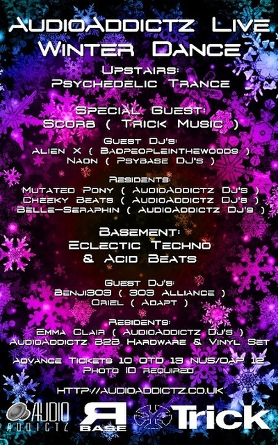 AudioAddictz Live Winter Dance Presents Scorb 3 Dec '16, 21:00
