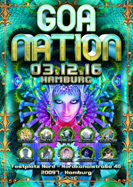 Party Flyer GOA NATION - HAMBURG 3 Dec '16, 23:00